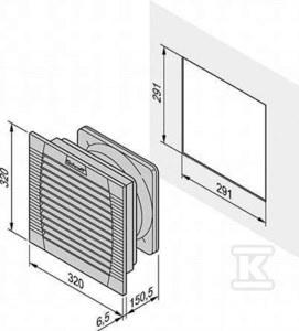 Wentylator z filtrem FL600 115V RAL7035