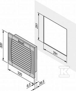 Wentylator wylotowy z filtrem FLA500/600 RAL7035