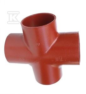 Czwórnik żeliwny SML 100x100x70x70/88, (żeliwo szare bezkielichowe)