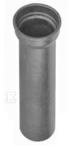 Rura jednokielichowa z uszczelką U-AK, L=1000 DN150, żeliwo kielichowe szarego (GJL)