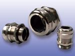Metalowa dławica kablowa z gwintem metrycznym - mosiądz niklowany -mmG-50 z nakrętką, IP68, dla przewodów o średnicy 27-35mm