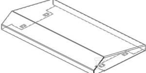 Daszek do szafki naścienna GL 66 z drzwiami na zawiasach ze stali nierdzewnej 304 800X210