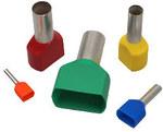Końcówka kablowa tulejkowa podwójna, izolacja kolor niebieski, przekrój 2,5mm2, długość 10mm, OPK=100szt.