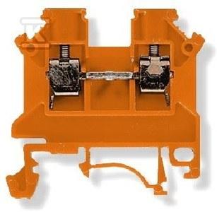 Złączka szynowa, gwintowa, ZSG 1- 2.5N, pomarańczowa