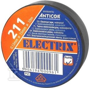 Taśma izolacyjna 15 x 10 czarna ELECTRIXC 211P