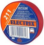 Taśma ELECTRIX 211 19 mm 20 m czerwona