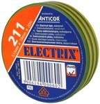 Taśma ELECTRIX 211 19 mm 20 m żółto-zielona