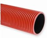 Rura karbowana w kręgach średnica 160mm QRK 160/25 FLEX czerwona /25m/