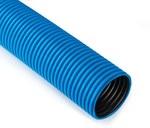 Rura karbowana w kręgach średnica 75mm QRK 75/50 FLEX niebieska 250N /50m/