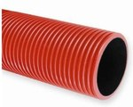 Rura karbowana w odcinkach średnica 160mm QRK 160 czerwona /6m/