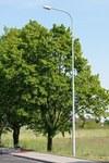 Słup stalowy ocynkowany ośmiokatny SO 8/3, wysokość 8m, grubość blachy 3mm. Fundament B120