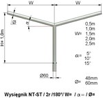 Wysięgnik NT ST 2 ram 1,0 m