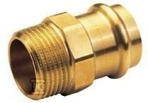 Nypel przejściowy, GZ, 15x3/4 brąz B Press
