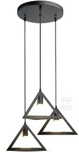 Lampa wisząca VT-7144 czarna