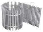 Kratka poprzeczna Aquilo dural jasny brąz 42x110
