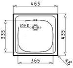 Zlewozmywak stalowy E 33 1-komorowy , z - 100139701