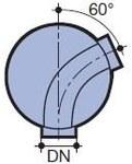 Kineta 425x160mm/60° przepływowa (do - 3011344