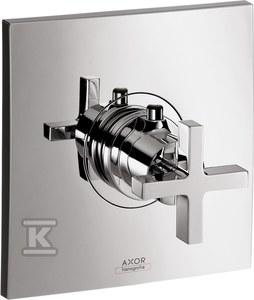 AXOR Citterio Bateria termostatyczna podtynkowa High Flow, element zewnętrzny, pokrętło krzyżowe - chrom