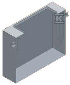 AQUAFIX Fk 04, stalowy separator tłuszczów, przepust. 4 l/s, króćce stal.