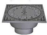 Wpust żeliwny piwniczny (wzór francuski) z odpływem pionowym DN100 z zasyfonowaniem i z rurą 100x150 KL.A15 (1.5T)