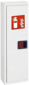 Szafka na gaśnicę do hydrantu SLIM GREEN, RAL 9010, zamek uniwersalny, 230x780x180mm