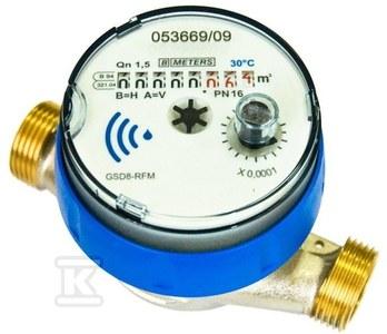 """Wodomierz GSD8-RFM ciepła woda,Q3=1.6, DN15 R100/50 , przystosowany do montażu modułu radiowego, """"antimagnetic"""""""