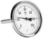 """Termometr bimetaliczny BiTh 63, fi 63 mm, 0-120°C, tuleja 45 mm, 1/2"""" ax, kl. 2,0"""