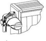 """Zawór termostatyczny ½"""" narożny lewy, z wkładką VS, z nastawą wstępną i funkcją samoczyszczenia"""