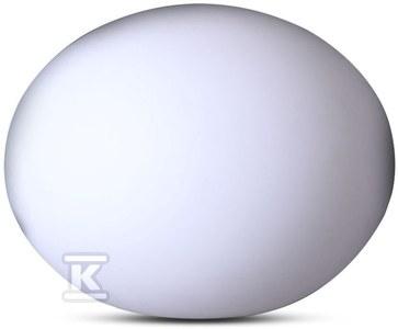 Świecąca kula ogrodowa LED RGB VT-7801 Wymiar 20x14cm akumulator litowy 1000mAh IP67
