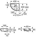 HALL Umywalka narożna prawa - A327622000