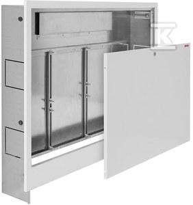 Podtynkowa szafka Onnline 780x620x115-165 do zamontowania rozdzielaczy bez i z układem mieszającym 13/7 zamykana na monetę