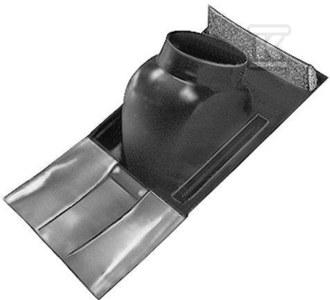 Płyta dachowa czarna DN100/60 x 125/80 o nachyleniu 25-45°