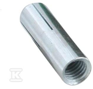 BIS, kotwa stalowa z gwintem wewnętrznym do zastosowania w betonie, GW M10