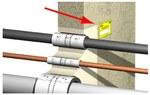 Tabliczka identyfikacyjna do oznakowania przejść pożarowych, materiał: tworzywo sztuczne BIS PACIFYRE MK II