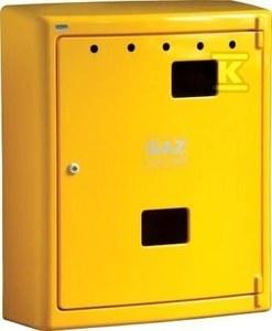 Obudowa gazomierza żółta G78/MK natynkowa stelaż