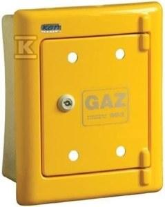 Obudowa gazomierza żółta R23 podtynkowa