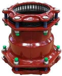 Łącznik rurowy zakleszczający Uni/Fiksers NBR MJ3007 65M x 65M A2 N
