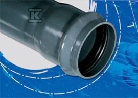 Rura ciśnieniowa PVC 160x6.2x6000 PN10 popiel kielichowa