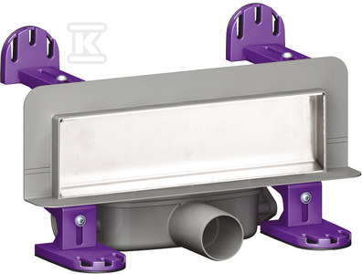 Odpływ ścienny Scada LED RGB, z pokrywą do wklejenia płytek