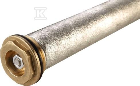 """Anoda magnezowa fi33x250 z korkiem 5/4"""" mosiężnym"""