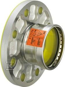 Kształtka z SC, z kolnierzem 88,9 (DN80) stal szlachetna - nierdzewna / błyszczący, model 2359XL Sanpress