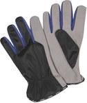 Rękawice robocze poliester, od strony chwytnej zamsz-manualne roz.9