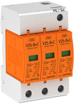 V25-B+C/3 KL.B+C ogranicznik przepięć Typ 1+2. Wymienne wkładki warystorowe.