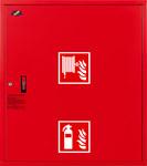 Hydrant DN25 zawieszany z miejscem na gaśnicę pod zwijadłem, wąż 30m, zamek patent, RAL 3000