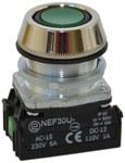 Przycisk NEF30-UK2X zielony
