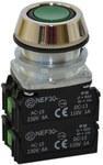 Przycisk NEF30-UK2X2Y zielony