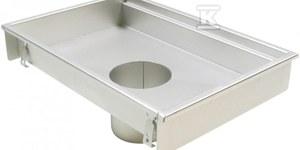 Korpus kanału kuchennego (do dokupienia syfon typ 562 lub 502 i filtr/ kosz osadczy typ 502 lub 780) wymiar 300x300 odpływ Ø 160
