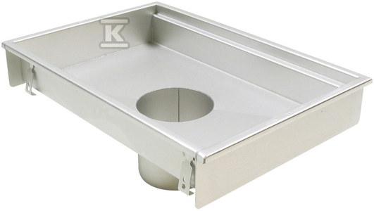 Korpus kanału kuchennego (do dokupienia syfon typ 562 lub 502 i filtr/ kosz osadczy typ 502 lub 780) wymiar 400x800 odpływ Ø 160, wys. wewn.60 mm