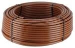 Linia kroplująca naziemna z kompensacją ciśnienia, rozstaw emiterów: 33cm, przepływ 2.3l/h, brązowa, rolka 100m (XFD2333100)