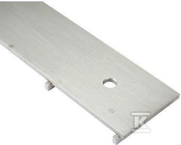 Ruszt do kanałów przemysłowych typ SLOT 10 mm płyta + wsporniki wys. 20 mm, L=3500 kg, 295x500 mm
